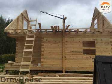 Строительство дома из бруса по проекту Толедо   фаза 13