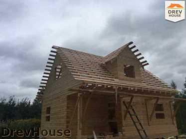 Строительство дома из бруса по проекту Толедо   фаза 15