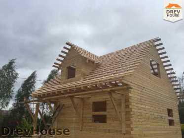 Строительство дома из бруса по проекту Толедо   фаза 16