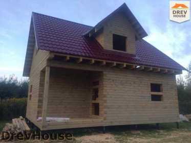 Строительство дома из бруса по проекту Толедо   фаза 17