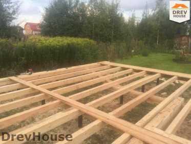Строительство дома из бруса по проекту Толедо   фаза 5