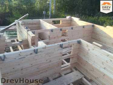 Строительство дома из бруса по проекту Толедо   фаза 7