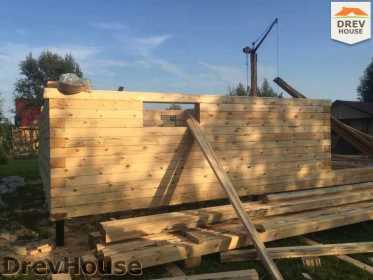 Строительство дома из бруса по проекту Толедо   фаза 8