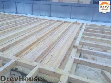 Строительство дома из бруса в СНТ Дубки   фаза 1