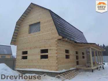 Строительство дома из бруса в СНТ Дубки   фаза 10