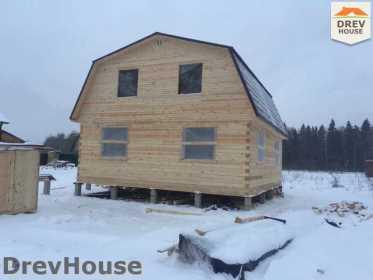 Строительство дома из бруса в СНТ Дубки   фаза 11