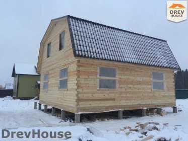 Строительство дома из бруса в СНТ Дубки   фаза 12