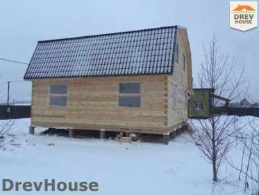 Строительство дома из бруса в СНТ Дубки   фаза 13