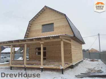 Строительство дома из бруса в СНТ Дубки   фаза 14