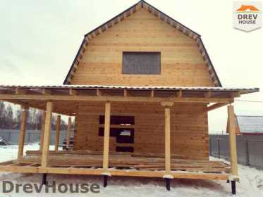 Строительство дома из бруса в СНТ Дубки   фаза 15