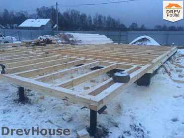 Строительство дома из бруса в СНТ Дубки   фаза 2