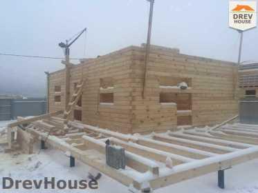 Строительство дома из бруса в СНТ Дубки   фаза 3