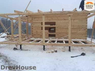 Строительство дома из бруса в СНТ Дубки   фаза 4