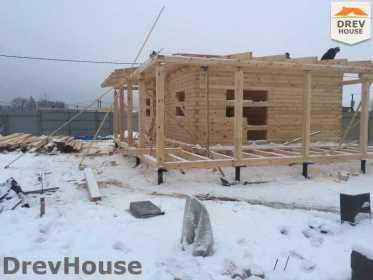 Строительство дома из бруса в СНТ Дубки   фаза 5
