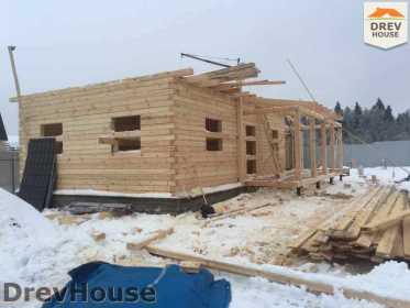 Строительство дома из бруса в СНТ Дубки   фаза 6
