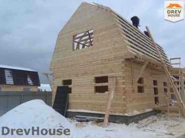 Строительство дома из бруса в СНТ Дубки   фаза 7