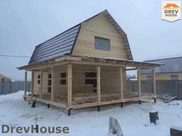 Строительство дома из бруса в СНТ Дубки   фаза 8