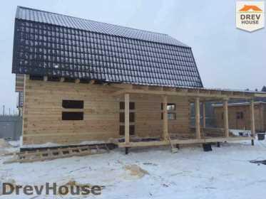 Строительство дома из бруса в СНТ Дубки   фаза 9