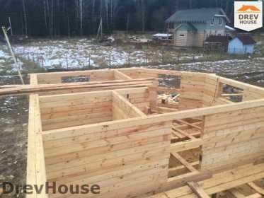 Строительство дома из бруса в СНТ Манюхино   фаза 10