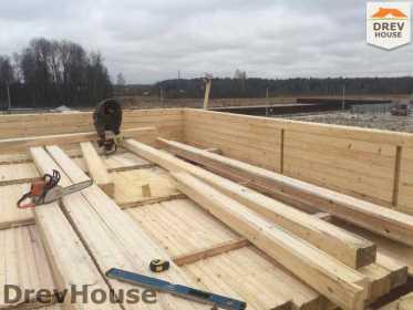 Строительство дома из бруса в СНТ Манюхино   фаза 11
