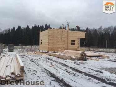 Строительство дома из бруса в СНТ Манюхино   фаза 12