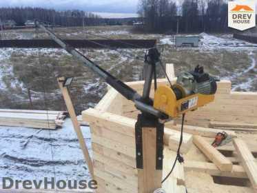 Строительство дома из бруса в СНТ Манюхино   фаза 13