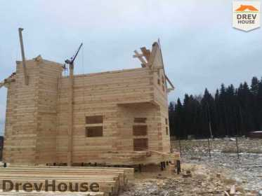 Строительство дома из бруса в СНТ Манюхино   фаза 14