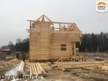 Строительство дома из бруса в СНТ Манюхино   фаза 15
