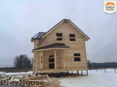 Строительство дома из бруса в СНТ Манюхино   фаза 16