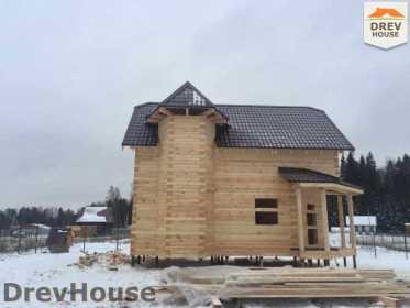 Строительство дома из бруса в СНТ Манюхино   фаза 17