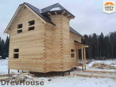 Строительство дома из бруса в СНТ Манюхино   фаза 18