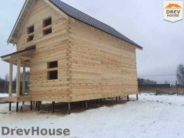 Строительство дома из бруса в СНТ Манюхино   фаза 19