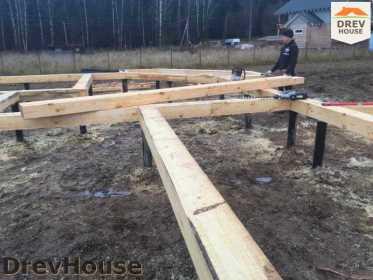 Строительство дома из бруса в СНТ Манюхино   фаза 2