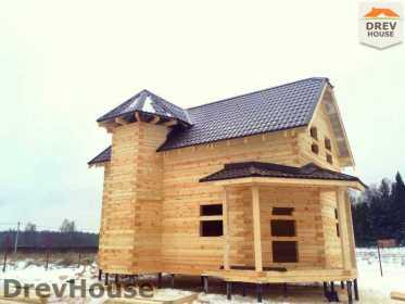 Строительство дома из бруса в СНТ Манюхино   фаза 20