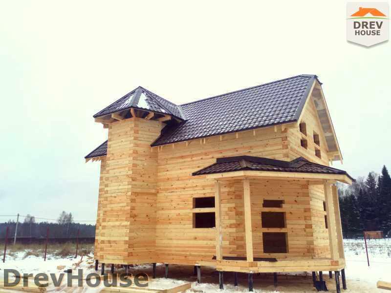 Фоторепортаж строительства дома из бруса в СНТ Манюхино, Пушкинский р-н, МО