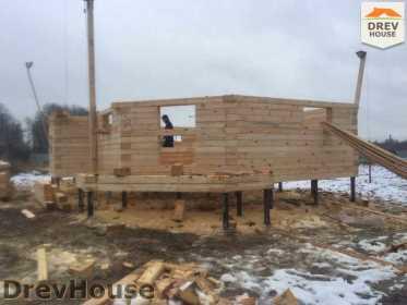 Строительство дома из бруса в СНТ Манюхино   фаза 3