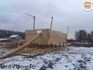 Строительство дома из бруса в СНТ Манюхино   фаза 4