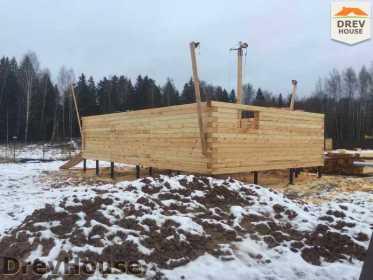 Строительство дома из бруса в СНТ Манюхино   фаза 5