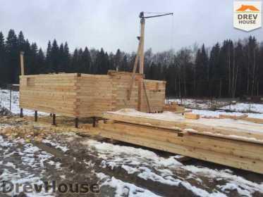 Строительство дома из бруса в СНТ Манюхино   фаза 6