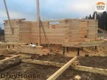 Строительство дома из бруса в СНТ Манюхино   фаза 7