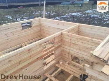 Строительство дома из бруса в СНТ Манюхино   фаза 8