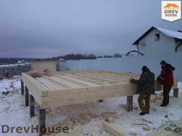 Строительство дома из бруса в деревне Ожерелье   фаза 1