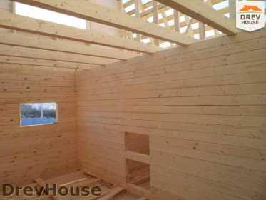 Строительство дома из бруса в деревне Ожерелье   фаза 11