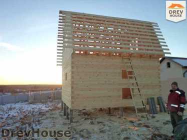 Строительство дома из бруса в деревне Ожерелье   фаза 13