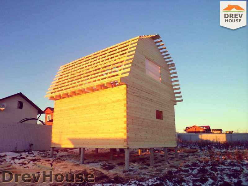 Фоторепортаж строительства дома из бруса в д. Ожерелье, МО
