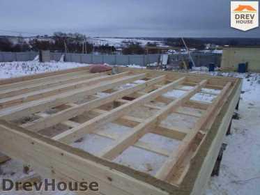 Строительство дома из бруса в деревне Ожерелье   фаза 2
