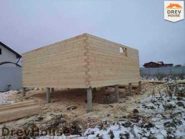 Строительство дома из бруса в деревне Ожерелье   фаза 3