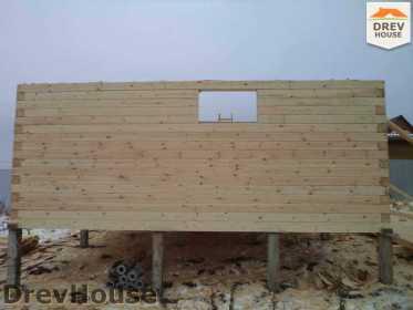 Строительство дома из бруса в деревне Ожерелье   фаза 4