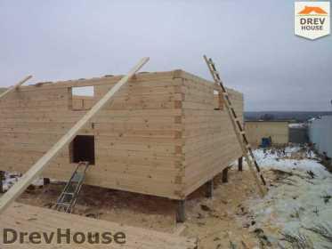 Строительство дома из бруса в деревне Ожерелье   фаза 5