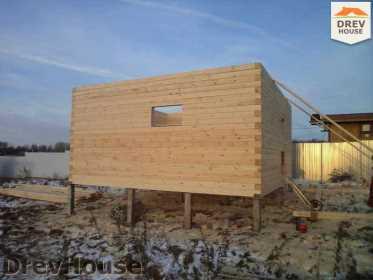 Строительство дома из бруса в деревне Ожерелье   фаза 6